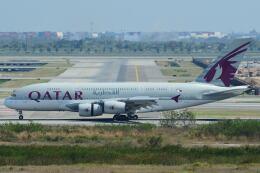 doncyanさんが、スワンナプーム国際空港で撮影したカタール航空 A380-861の航空フォト(飛行機 写真・画像)