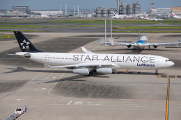 Tomo-Papaさんが、羽田空港で撮影したルフトハンザドイツ航空 A340-313Xの航空フォト(飛行機 写真・画像)