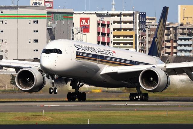 kan787allさんが、福岡空港で撮影したシンガポール航空 A350-941の航空フォト(飛行機 写真・画像)