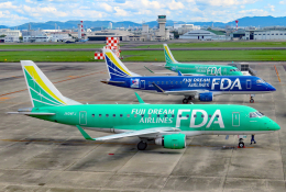 なごやんさんが、名古屋飛行場で撮影したフジドリームエアラインズ ERJ-170-100 SU (ERJ-170SU)の航空フォト(飛行機 写真・画像)
