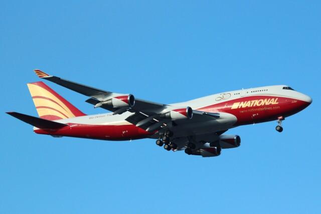 cassiopeiaさんが、横田基地で撮影したナショナル・エアラインズ 747-446(BCF)の航空フォト(飛行機 写真・画像)
