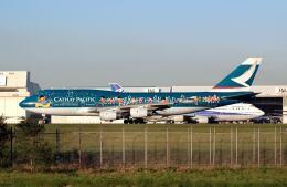 パール大山さんが、成田国際空港で撮影したキャセイパシフィック航空 747-467の航空フォト(飛行機 写真・画像)