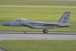 350JMさんが、嘉手納飛行場で撮影したアメリカ空軍 F-15C-33-MC Eagleの航空フォト(飛行機 写真・画像)