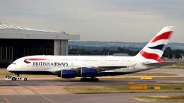 誘喜さんが、ロンドン・ヒースロー空港で撮影したブリティッシュ・エアウェイズ A380-841の航空フォト(飛行機 写真・画像)