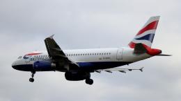 誘喜さんが、ロンドン・ヒースロー空港で撮影したブリティッシュ・エアウェイズ A319-131の航空フォト(飛行機 写真・画像)