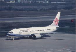 プルシアンブルーさんが、富山空港で撮影したチャイナエアライン 737-8Q8の航空フォト(飛行機 写真・画像)