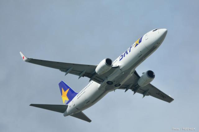 やまちゃんKさんが、那覇空港で撮影したスカイマーク 737-81Dの航空フォト(飛行機 写真・画像)