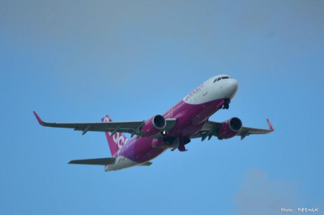 やまちゃんKさんが、那覇空港で撮影したピーチ A320-214の航空フォト(飛行機 写真・画像)