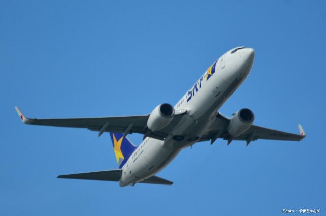 やまちゃんKさんが、那覇空港で撮影したスカイマーク 737-8FZの航空フォト(飛行機 写真・画像)