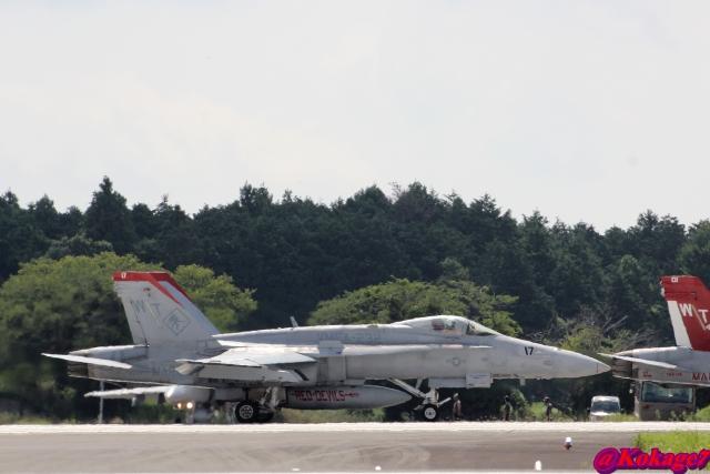 湖景さんが、茨城空港で撮影したアメリカ海兵隊 F/A-18C Hornetの航空フォト(飛行機 写真・画像)