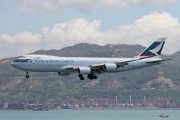 フッ軽の極美さんが、香港国際空港で撮影したキャセイパシフィック航空 747-867F/SCDの航空フォト(飛行機 写真・画像)
