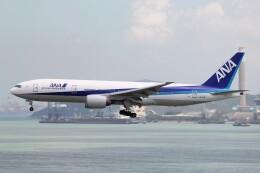 フッ軽の極美さんが、香港国際空港で撮影した全日空 777-281/ERの航空フォト(飛行機 写真・画像)