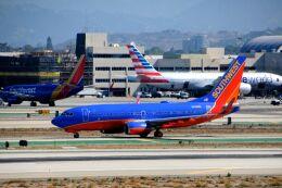 まいけるさんが、ロサンゼルス国際空港で撮影したサウスウェスト航空 737-7H4の航空フォト(飛行機 写真・画像)