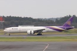天王寺王子さんが、成田国際空港で撮影したタイ国際航空 777-3AL/ERの航空フォト(飛行機 写真・画像)