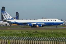 磐城さんが、成田国際空港で撮影したユナイテッド航空 747-422の航空フォト(飛行機 写真・画像)