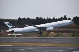 hachiさんが、成田国際空港で撮影したキャセイパシフィック航空 A330-343Xの航空フォト(飛行機 写真・画像)