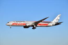 ポン太さんが、成田国際空港で撮影したエティハド航空 787-9の航空フォト(飛行機 写真・画像)