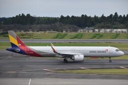 PIRORINGさんが、成田国際空港で撮影したアシアナ航空 A321-251NXの航空フォト(飛行機 写真・画像)