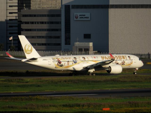 狛犬さんが、羽田空港で撮影した日本航空 A350-941の航空フォト(飛行機 写真・画像)