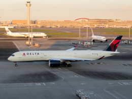 狛犬さんが、羽田空港で撮影したデルタ航空 A350-941の航空フォト(飛行機 写真・画像)