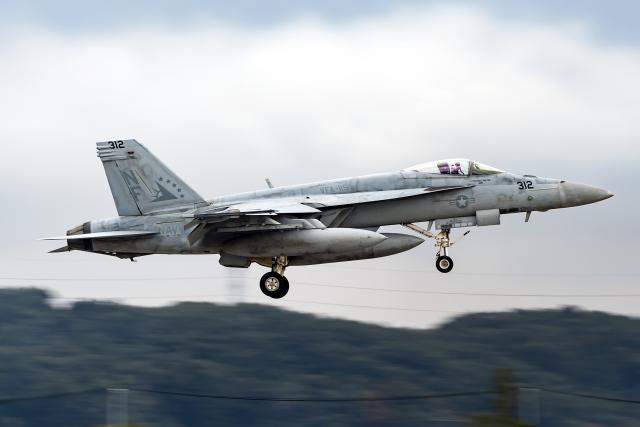 Flankerさんが、横田基地で撮影したアメリカ海軍 F/A-18E Super Hornetの航空フォト(飛行機 写真・画像)