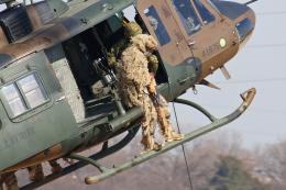 スカルショットさんが、習志野演習場で撮影した陸上自衛隊 UH-1Jの航空フォト(飛行機 写真・画像)