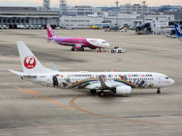 White Pelicanさんが、中部国際空港で撮影した日本トランスオーシャン航空 737-8Q3の航空フォト(飛行機 写真・画像)