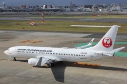 安芸あすかさんが、福岡空港で撮影した日本トランスオーシャン航空 737-8Q3の航空フォト(飛行機 写真・画像)