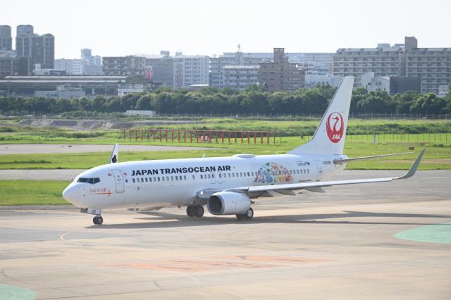 どんちんさんが、福岡空港で撮影した日本トランスオーシャン航空 737-8Q3の航空フォト(飛行機 写真・画像)