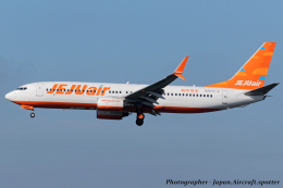 いおりさんが、成田国際空港で撮影したチェジュ航空 737-8K5の航空フォト(飛行機 写真・画像)