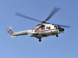パンサーRP21さんが、群馬ヘリポートで撮影した朝日航洋 AS332L1 Super Pumaの航空フォト(飛行機 写真・画像)