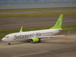 エアキンさんが、中部国際空港で撮影したソラシド エア 737-86Nの航空フォト(飛行機 写真・画像)