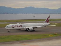 エアキンさんが、中部国際空港で撮影したカタール航空 777-3DZ/ERの航空フォト(飛行機 写真・画像)