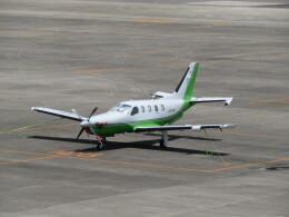 ヒロリンさんが、名古屋飛行場で撮影した日本法人所有 TBM-700の航空フォト(飛行機 写真・画像)