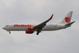 磐城さんが、シンガポール・チャンギ国際空港で撮影したマリンド・エア 737-8GPの航空フォト(飛行機 写真・画像)