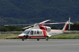 Gambardierさんが、岡南飛行場で撮影した朝日航洋 S-76Dの航空フォト(飛行機 写真・画像)