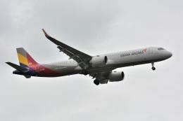 アルビレオさんが、成田国際空港で撮影したアシアナ航空 A321-251NXの航空フォト(飛行機 写真・画像)