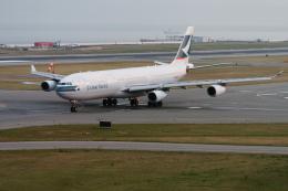 senyoさんが、関西国際空港で撮影したキャセイパシフィック航空 A340-313Xの航空フォト(飛行機 写真・画像)
