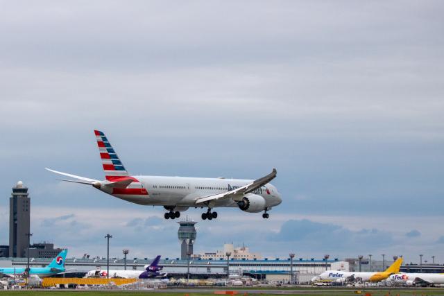 ゆーすきんさんが、成田国際空港で撮影したアメリカン航空 787-9の航空フォト(飛行機 写真・画像)