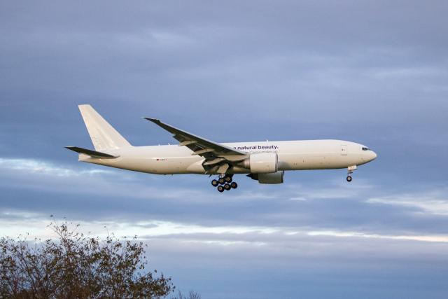 ゆーすきんさんが、成田国際空港で撮影したルフトハンザ・カーゴ 777-F1Hの航空フォト(飛行機 写真・画像)