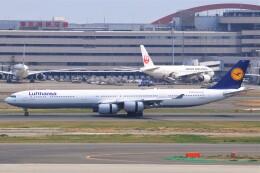 fly A340さんが、羽田空港で撮影したルフトハンザドイツ航空 A340-642Xの航空フォト(飛行機 写真・画像)