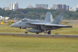 350JMさんが、厚木飛行場で撮影したアメリカ海軍 F/A-18E Super Hornetの航空フォト(飛行機 写真・画像)