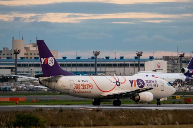 ゆーすきんさんが、成田国際空港で撮影したYTOカーゴ・エアラインズ 737-36Q(SF)の航空フォト(飛行機 写真・画像)