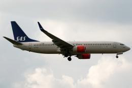 採れたてほしいもさんが、ロンドン・ヒースロー空港で撮影したスカンジナビア航空 737-86Nの航空フォト(飛行機 写真・画像)