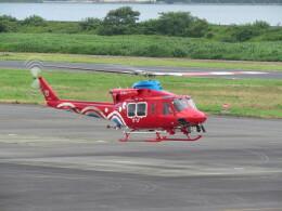 F.YUKIHIDEさんが、岡南飛行場で撮影した岡山県消防防災航空隊 412EPの航空フォト(飛行機 写真・画像)
