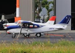 LOTUSさんが、八尾空港で撮影した共立航空撮影 T206H Turbo Stationair TCの航空フォト(飛行機 写真・画像)