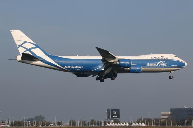 NIKEさんが、アムステルダム・スキポール国際空港で撮影したエアブリッジ・カーゴ・エアラインズ 747-83QFの航空フォト(飛行機 写真・画像)