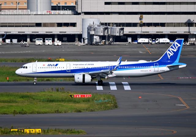 雲霧さんが、羽田空港で撮影した全日空 A321-272Nの航空フォト(飛行機 写真・画像)