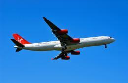 パール大山さんが、成田国際空港で撮影したヴァージン・アトランティック航空 A340-311の航空フォト(飛行機 写真・画像)