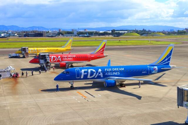 TAOTAOさんが、名古屋飛行場で撮影したフジドリームエアラインズ ERJ-170-200 (ERJ-175STD)の航空フォト(飛行機 写真・画像)